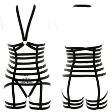 Body Harness Women Set Belt Garter Black Sexy Suit Bondage Cage Bra for Elastic Goth Festival Rave Dance Cosplay Wear