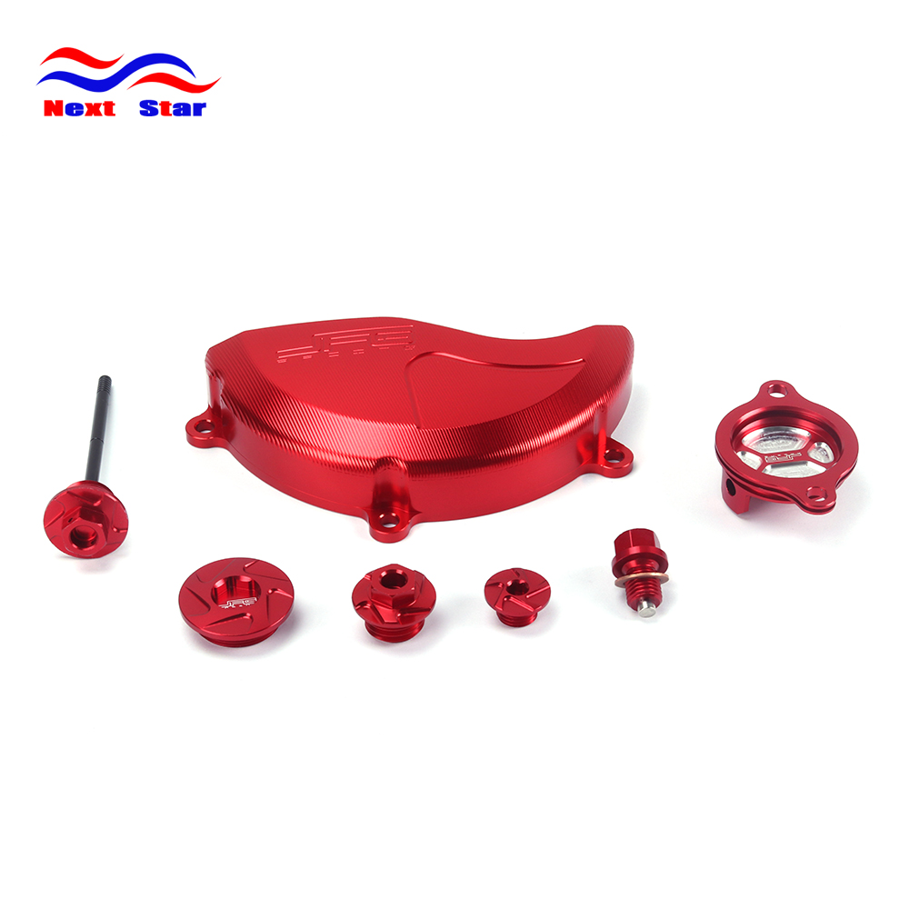Motorcycle Motocross Engine Cover Oil Filter Cap Oil Screw Dipstick Dip Set For HONDA CRF250R CRF 250R CRF250 R 2010 2011-2016 new red fine workmanship engine oil cap cover plug for subaru motor sports