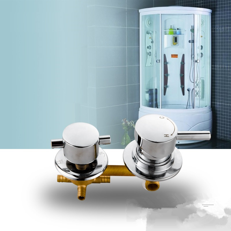 Shower room Solid Brass mixer faucet 2/3/4/5 ways outlet mixing valve cold hot water switch valve shower faucet accessories
