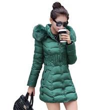 Big size L-4XL Winter jacket women Female Long parkas spring Coat Fake Fur Collar Warm Woman Outerwear Down cotton Jacket coat цены онлайн