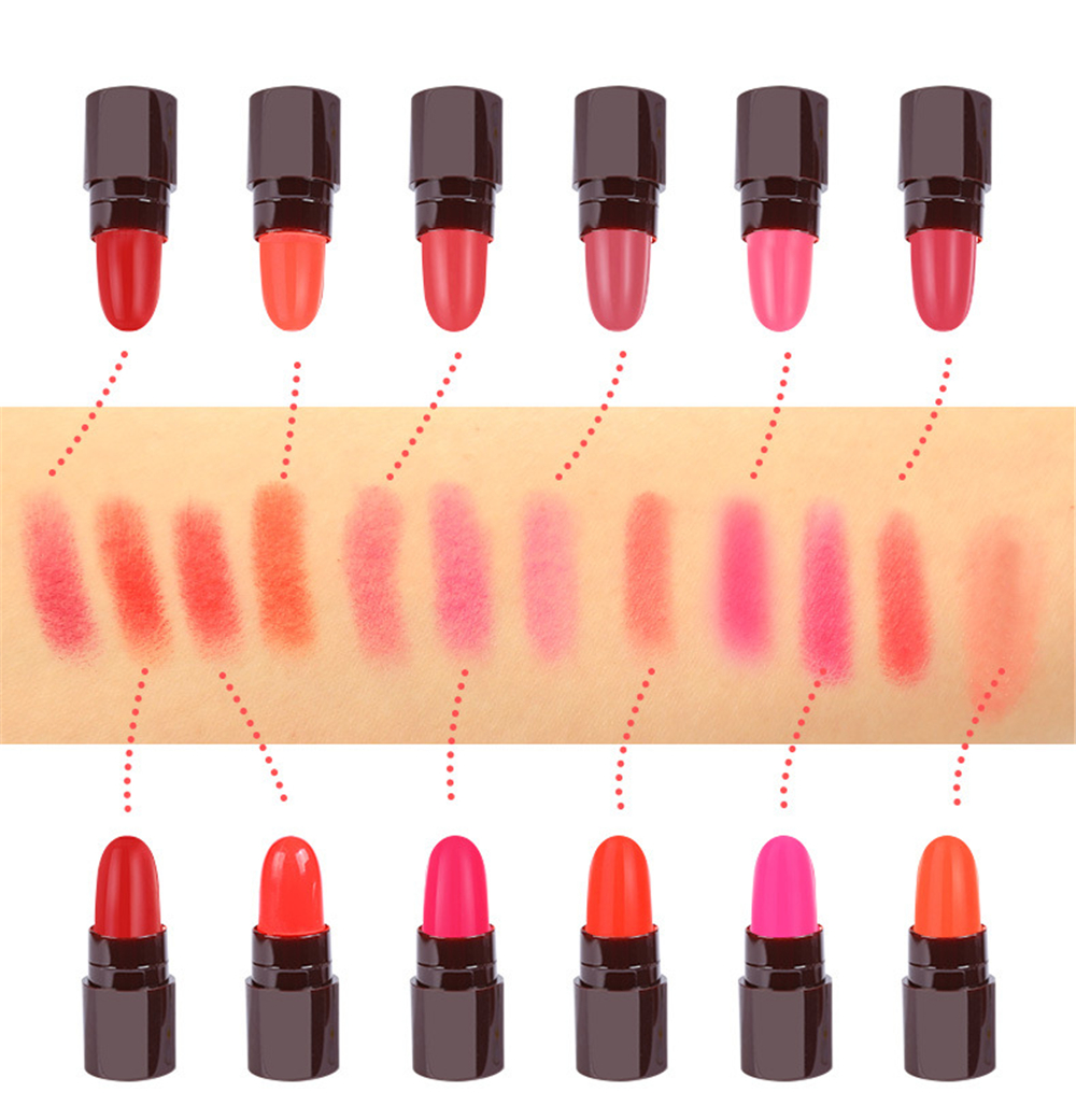 Fashion Mini Cute Long Lasting Lipstick Professional Makeup Lips Lip gloss Kit Lovely Portable New Sale 1(SET)12 Colors
