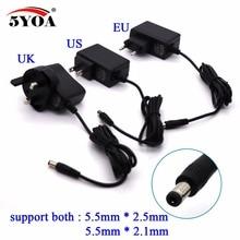 Power Adapter 100 240 v AC zu DC Versorgung Ladegerät 5 v 1A Stecker 5,5mm x 2,5mm DC UK US EU Stecker Schalt für CCTV LED Streifen Lampe etc