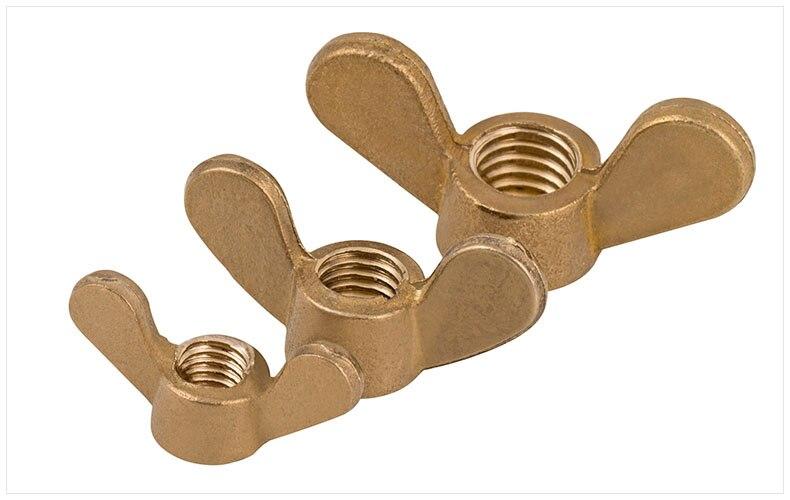 GB62 brass copper butterfly nut claw nut hand twist copper nut M3 M4 M5 M6 M8 M10 M12 M16 nut injection molding machine nut b type single blind copper insert m3 m4 m5 m6 m8 brass embedded copper knurled nut