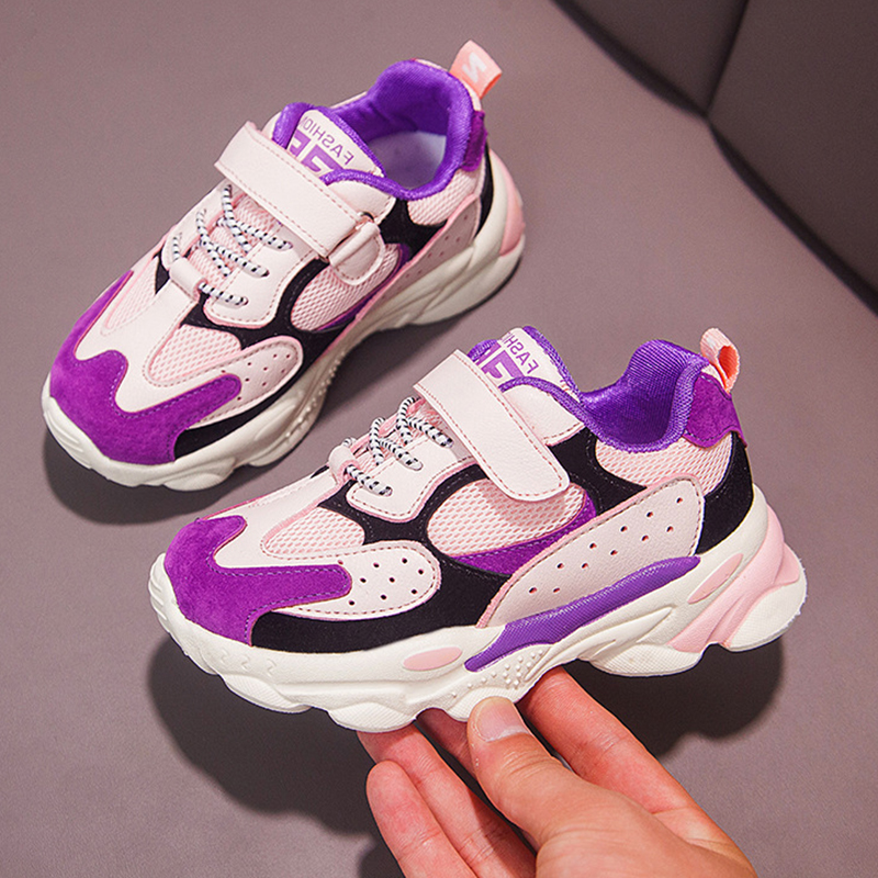 ULKNN Girls Small Net Shoes Autumn New Boys Sports Shoes Breathable Trend Explosion Children's Primary School Students Shoes