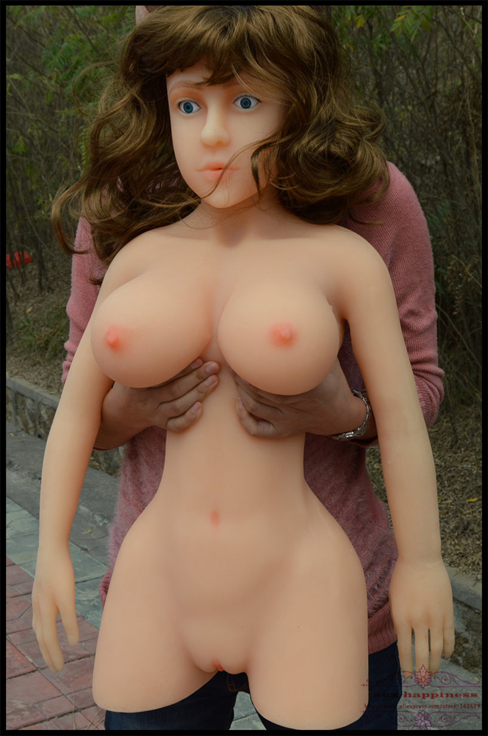 Life size gay real full silicone sex dolls solid porn love doll dick big breast gay