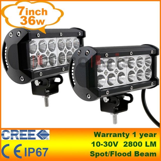 Koop 2 stuks 7 36w cree led verlichting for Tractor verlichting