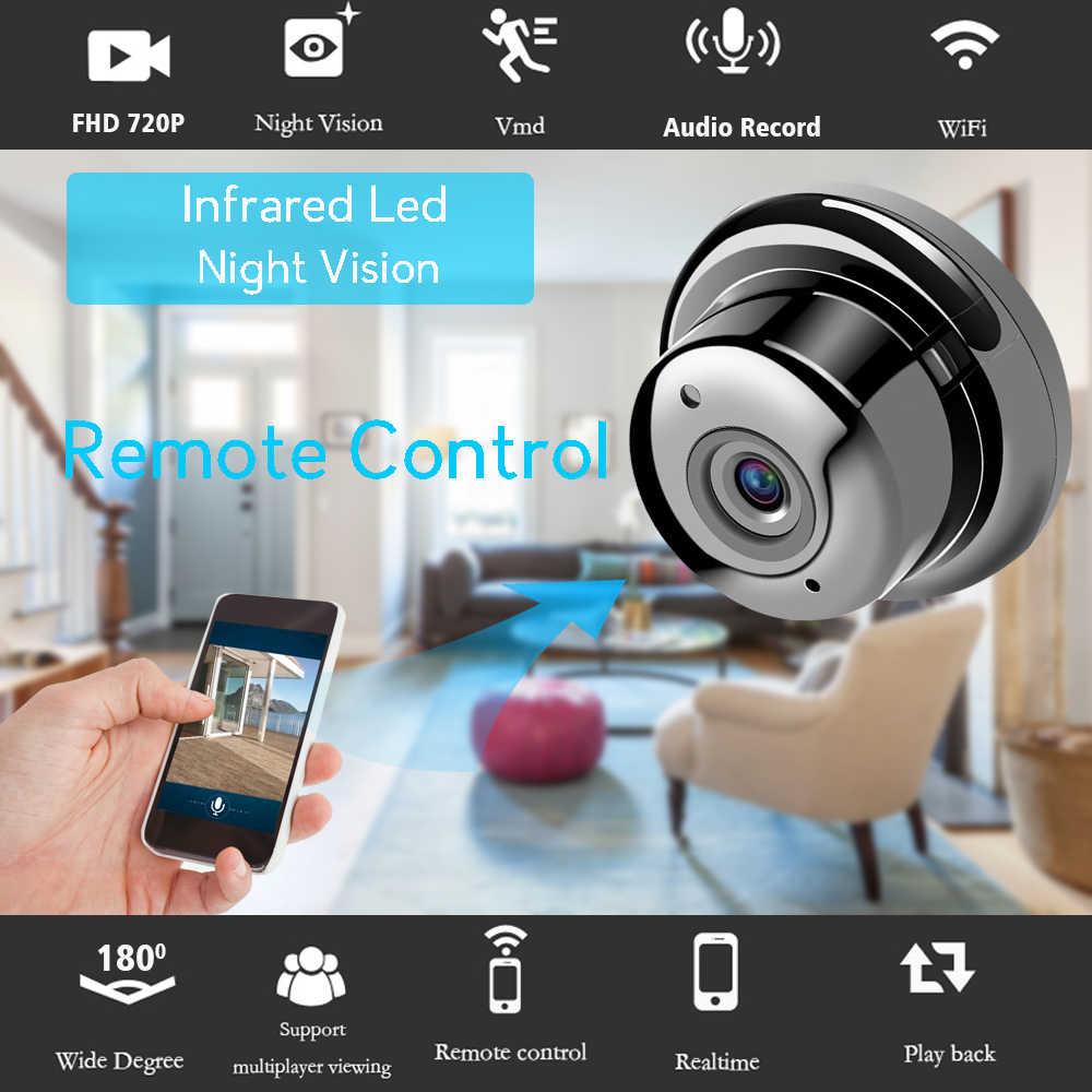 AOUERTK 90/180 градусов камера 720 P двухстороннее аудио слот для sd-карты WiFi ночного видения ip-видеокамера WiFi Мини CCTV