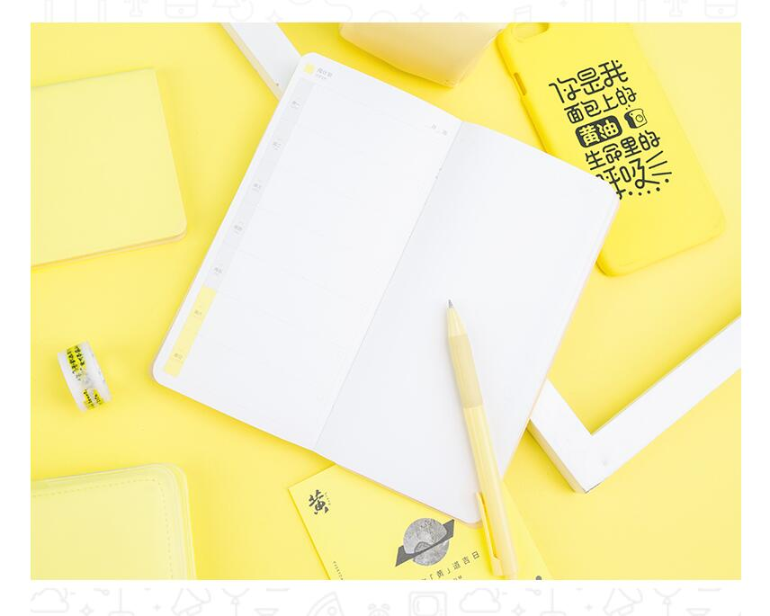Creative Moon Yellow Design Weeks Journal Undated DIY Weekly Planner  18.5*9.1cm 88 Sheets 2018 NewCreative Moon Yellow Design Weeks Journal Undated DIY Weekly Planner  18.5*9.1cm 88 Sheets 2018 New