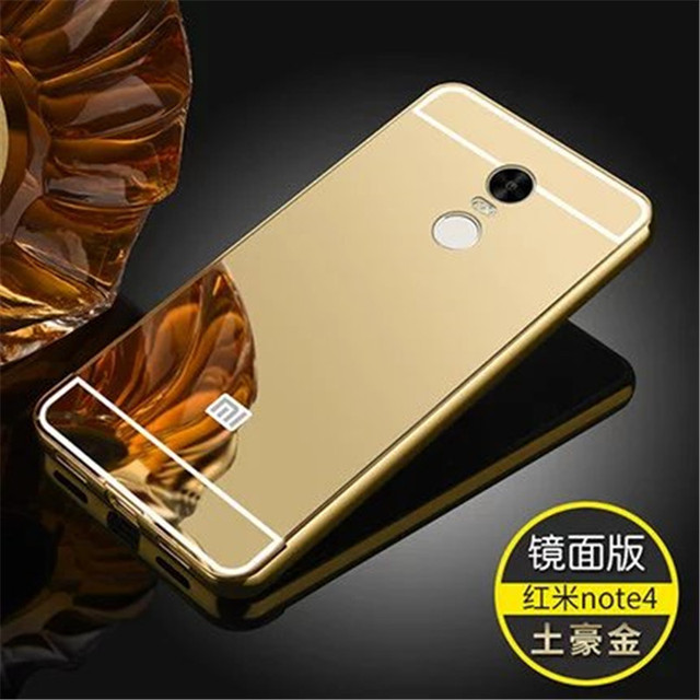 sports shoes 07200 9a556 US $3.56 |Fashion Luxury Rose Gold Mirror Case For XIAOMI hongmi redmi note  4 shell Back Cover For redmi note 4-in Fitted Cases from Cellphones & ...