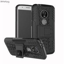 BYHeYang Armor Hybrid For Motorola Moto E5 Play Case TPU Bac