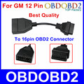 Top Quality For GM 12 Pin OBD/OBD2 Connector For GM 12PIN Adapter To 16pin For GM Cars With Three Years Warrtanty