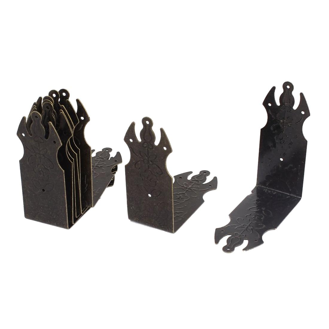 EWS  Chest Box Corners Decor Angle Plates Brace Protectors 70x70mm 8pcs keller charles melamine appetizer plates box of 6