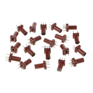 Image 1 - 20 Pcs Adjustable Inductor Shell Skeleton Empty Ferrite Core No Inductor Coil 25 100MHZ Whosale&Dropship