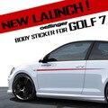 Эттингер Дизайн Кузова Талия Линия Газа Стикер Боковой Двери юбки Стиль Накладка Для VW Golf 7 GTI MK7 VII GOLF7
