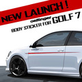 Oettinger Design Car Body Waist Line Strip Sticker Side Door Skirts Styling Trim For VW Golf 7 MK7 GTI VII GOLF7