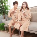Couple Bath Robe Female Male Coral Fleece Warm Bathrobe Dressing Gown For Women Men Long  Nightgown Sleepwear Kimono Homewear