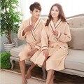 Couple Bath Robe Female Male Coral Fleece Warm Bathrobe Dressing Gown For Women Men Long  Nightgown Sleepwear Kimono Homewear