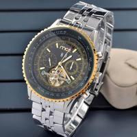 Business New Style Automatic Self Wind Man Watch Complete Calendar Analog Round Brass Fashion Men Boy Wristwatch Free Shipping