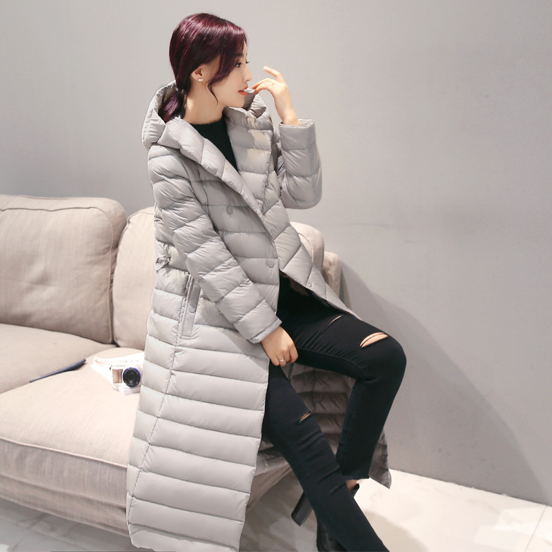 2019 Spring Plus Size 3XL Long Womens   Down   Jackets Ultra Light 90% Duck   Down     Coat   Winter Hoodie Puffer Jacket womens parkas