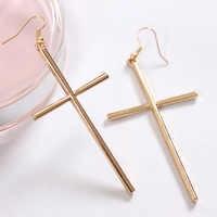 Fashion lady selling Metal cross Female stud earrings earrings wholesale