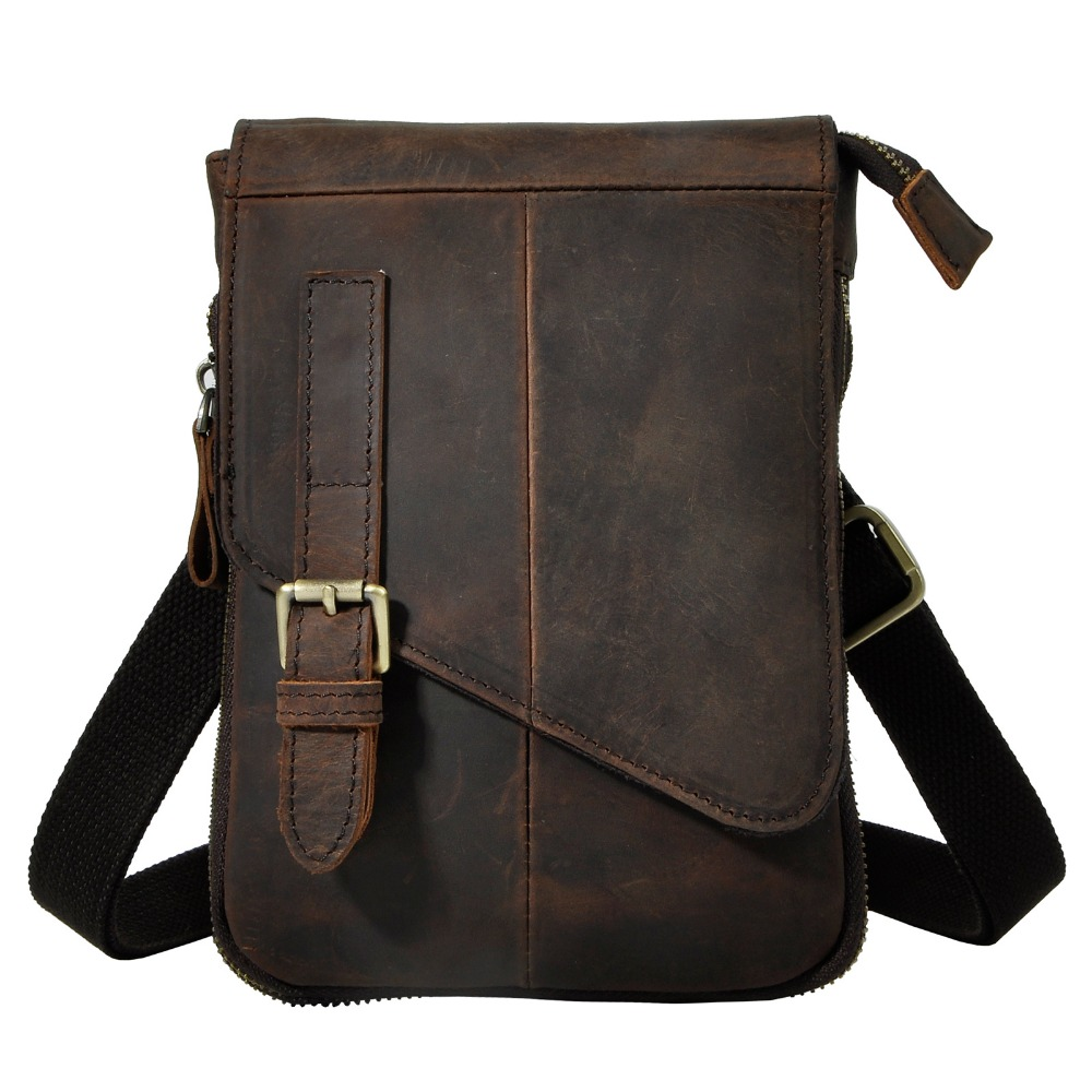 Fashion Quality Real Leather Male Casual Multifunction Messenger Satchel Tablet Shoulder Bag Fanny Waist Belt Pack Men 611-6-d