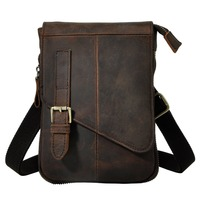 Fashion Real Leather Male Casual Multifunction messenger bag Satchel 8 Pad Cross body Shoulder bag Waist Belt Bag For Men 611 6d