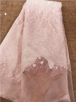 2018 High Quality Fashion French Lace Fabric Tulle Net Lace Fabric Bridal Party Dress Embroidery Baby