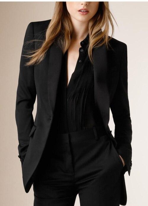 2015 Nach Maß Schwarz Herbst Und Winter Formalen Damen Hosen Anzüge Frauen Anzügen Amt Uniform Styles
