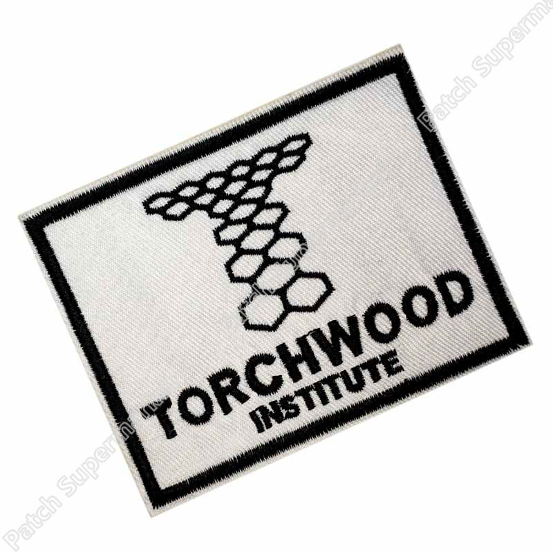 "Doctor Who TORCHWOOD TV Series Beige Name Logo 5/"" Wide Embroidered PATCH"