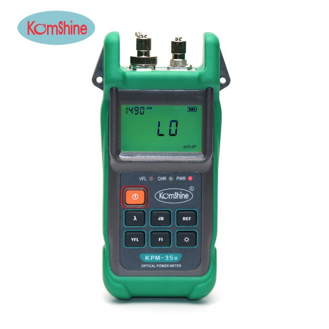 Komshine KPM-35V FIber Optical Power Meter and VFL 2 in 1 Cable Testing Tool Suit for 6 Wavelengths