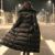 2016 Eólica Europea Cremallera y Bolsillos Decoración Hembra Color Puro Grande Hasta La Rodilla Femenina Genuina de gama Alta de Espesado abajo, DLA-002