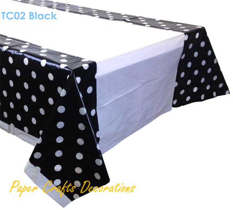 108*180cm Lemon Yellow Polka Dots Disposable Square Plastic Table Cover  Wedding Birthday Party Decorations In Disposable Party Tableware From Home  U0026 Garden ...