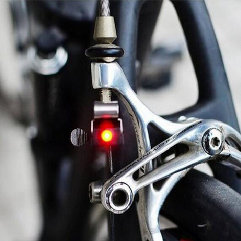 Mini Brake Bike Light Mount Tail Rear Bicycle Light Cycling LED Light High Brightness Waterproof LED lamp Cycling Accessories(China)