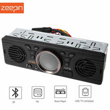 AV252B 12V Bluetooth 2.1 + EDR Vehicle In-dash 2 Loudspeakers MP3 Audio Player Car Stereo FM Radio with USB / TF Card Port(China)