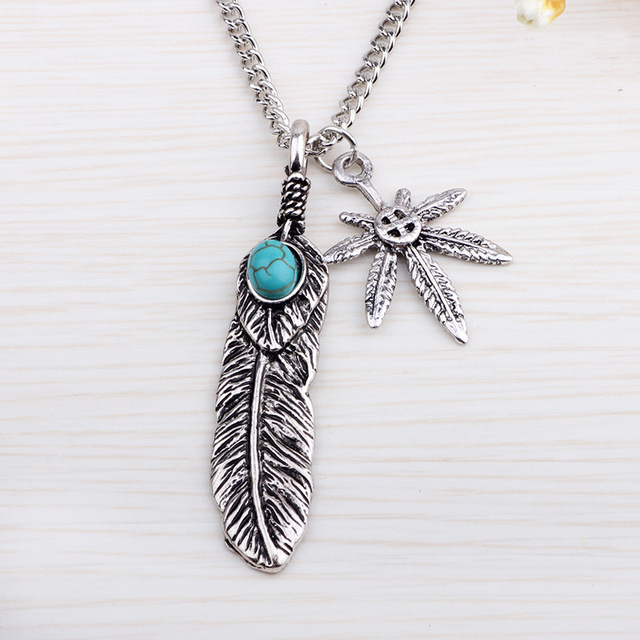 2017 mens feather necklace vintage pendant feather leaf claw 2017 mens feather necklace vintage pendant feather leaf claw sweater chain collares mujer steam punk choker aloadofball Image collections