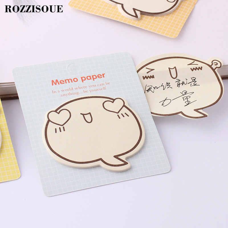 Hot Hot Kawaii Memo Pad Lucu Awan Kecil Self-Adhesive Sticky Notes Notepad Sekolah Perlengkapan Alat Tulis Diary Planner Stiker