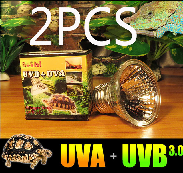 Coospider UVB Tungsten Halogen Bulb Warm Area in Terrariums for Reptile Pets Fit E27 Base 110v 220v available, UVB 3.0 UVA UVB
