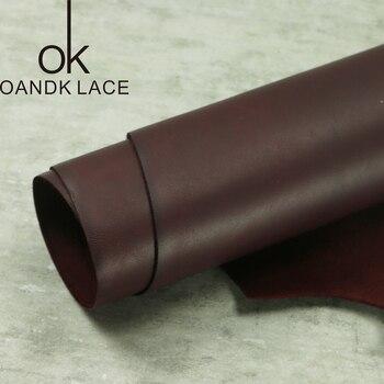 Claret gładka warstwa głowy skóra bydlęca handmade DIY SKÓRZANY PORTFEL skóra importowana skóra grubość 2.2mm