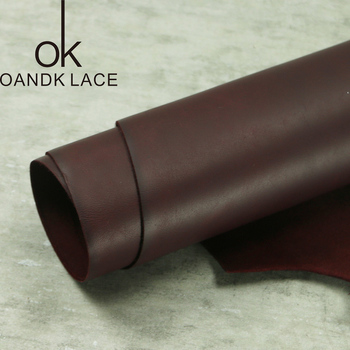Claret gładka warstwa skóry bydlęcej głowy handmade DIY skórzany portfel skórzane importowane skóry o grubości 2.2mm