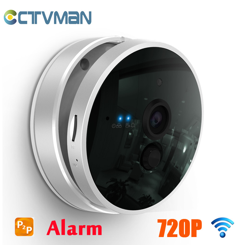 CTVMAN IP Camera Wireless 720P 1080HD Night Vision PIR Alarm Two Way Audio SD Card Slot P2P Smart WIFI Home Security IP Cam easyn a115 hd 720p h 264 cmos infrared mini cam two way audio wireless indoor ip camera with sd card slot ir cut night vision