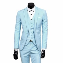 Latest Coat Pant Gentleman Suit Business Blazer Slim Fit Men Wedding Suits Jacket Pants Vest Set Traje Hombre Tuxedo