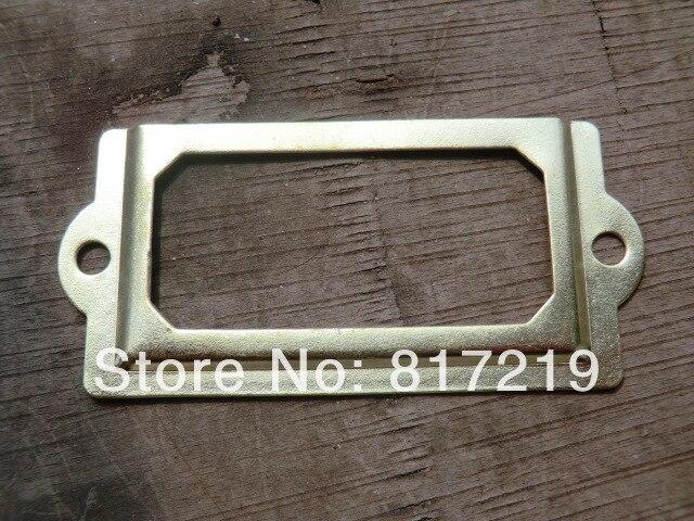 50pcs golden Iron Label Frame name Card Holder Handle library ...