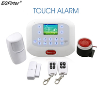 New Design Touch Screen Security Alarm System 433MHz Wireless Alam System GSM APP Control RFID Arm Disalarm