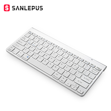 SANLEPUS ультра-тонкая клавиатура Bluetooth беспроводная клавиатура компьютера мини для телефона планшета ноутбука iPad iPhone samsung IOS Android
