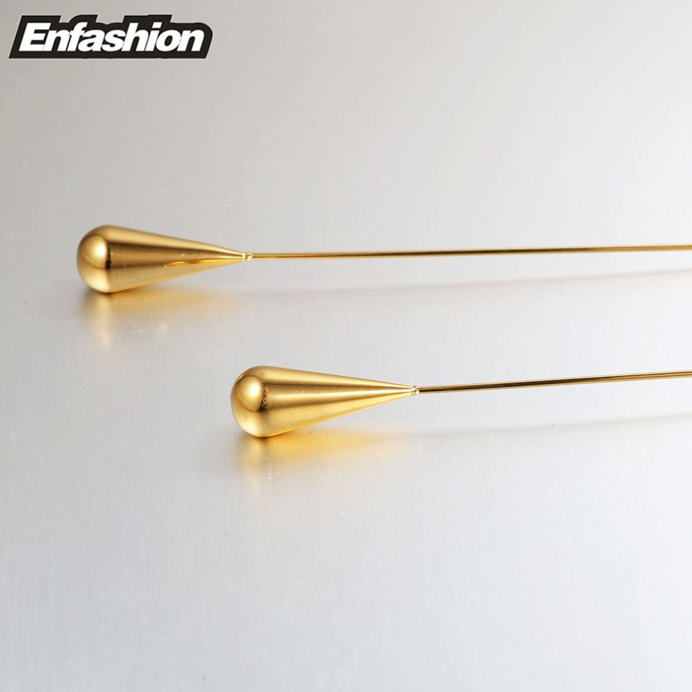 Enfashion oblik kapi vode visiti naušnice zlatne boje naušnice pada - Modni nakit - Foto 5