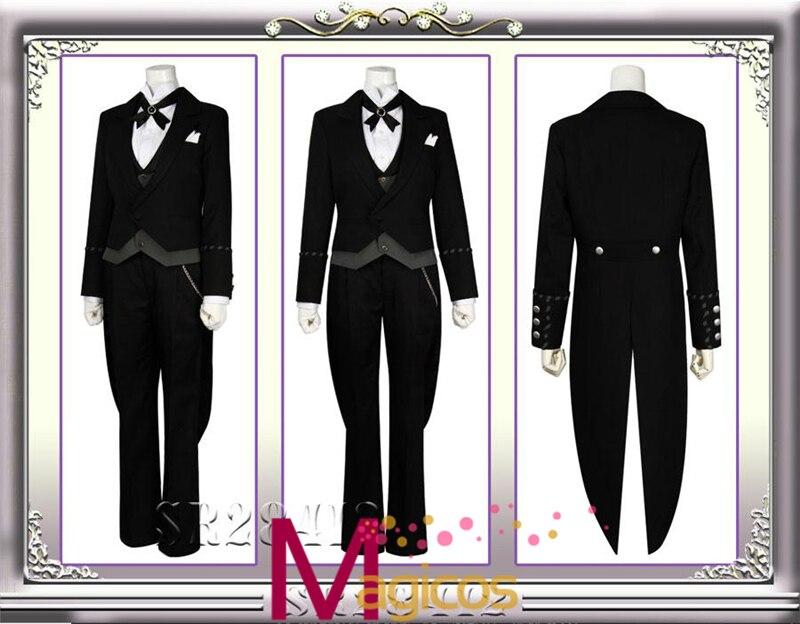 Anime Black Butler Claude Faustus Uniform Suits Cosplay Party - Կարնավալային հագուստները - Լուսանկար 1