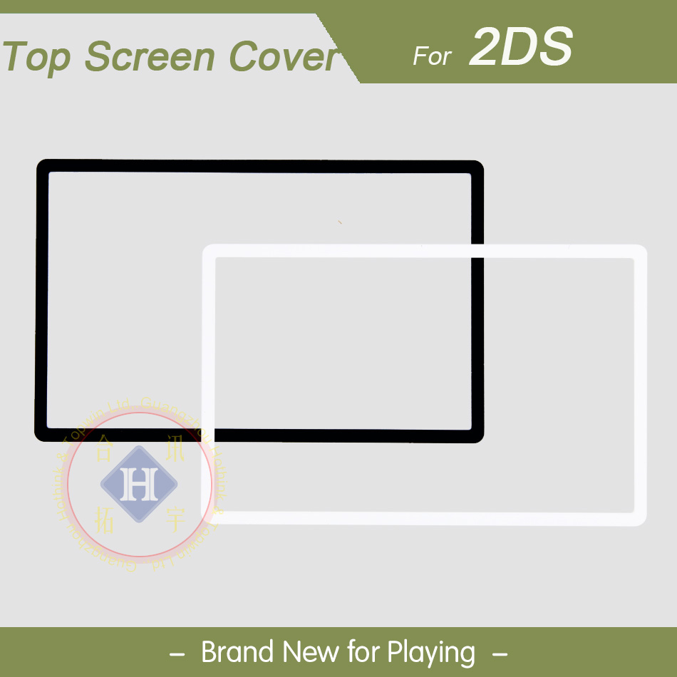 HOTHINK New Black / White Top Upper LCD Screen Plastic Cover Replacement Part For Nintendo 2DS