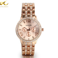 Lancardo Wristwatches Rose Gold Watch Men Watches Top Brand Luxury Famous Male Clock Steel Wrist Quartz