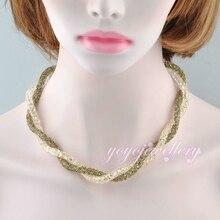 Mytys Doble alambre de malla transparente y negro Circón Collar Cadena Gargantilla Necklace N732 Pulsera
