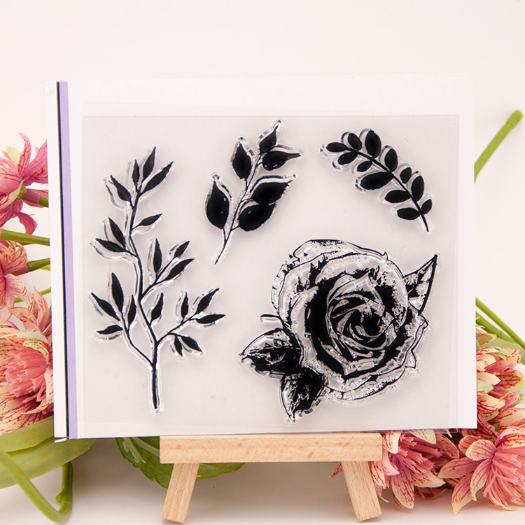 Flower Tree leaf Pattern Transparent Clear Stamp Seal For DIY Paper Craft Photo Album Card Scrapbooking Hand Account Decoration plastic embossing foldet flower diy scrapbooking photo album card paper craft decoration template